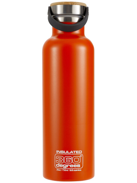 360° degrees Vacuum Insulated Drink Bottle 750ml Orange